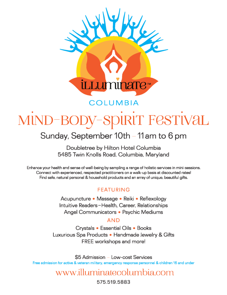 Illuminate Mind-Body-Spirit Festival-Columbia, MD (September 10
