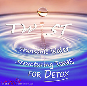 Recording of TWiST water structuring frequencies for detox