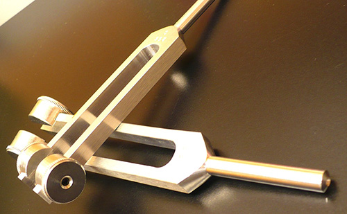 Two Weighted Tuning Forks