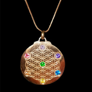 Rose Gold Chakra Flower of Life
