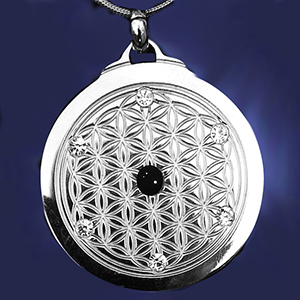 EforcePlus Six Star Flower of Life Pendant Titanium