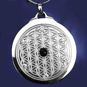 EforcePlus Six Star Flower of Life Pendant Titanium